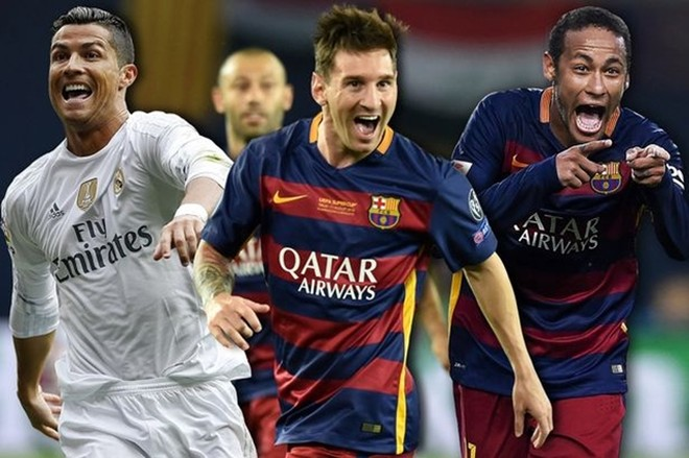 3 đề cử cuối cùng cho Quả bóng vàng FIFA năm 2015: Ronaldo, Messi và Neymar