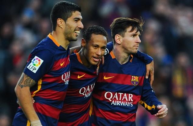 """Bộ ba """"nguyên tử"""" Messi, Neymar và Suarez"""