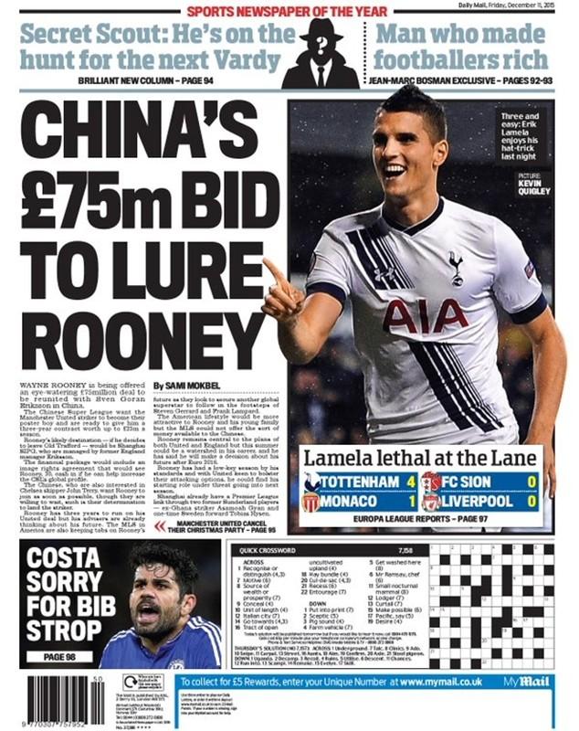 Báo chí loan tin về tương lai của Rooney
