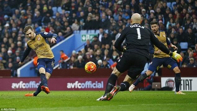 Ramsey nhân đôi cách biệt lên 2-0 cho Arsenal