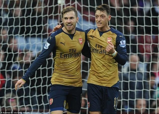Arsenal vươn lên dẫn đầu trên bảng xếp hạng Premier League