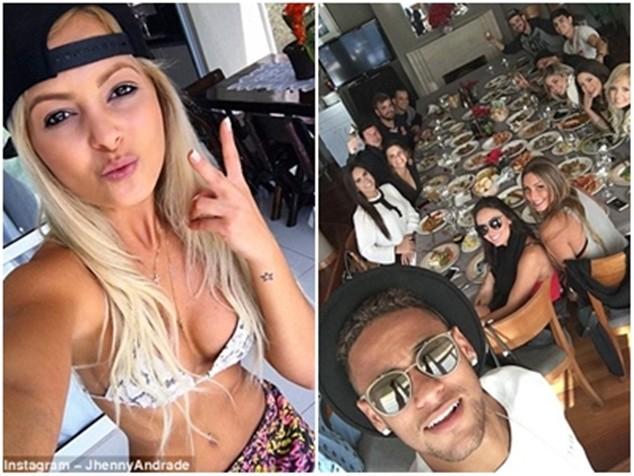 Andrade cùng Neymar và bạn bè mở tiệc