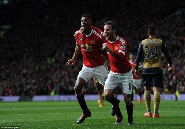 Rashford lập cú đúp bàn thắng giúp M.U vượt qua Arsenal với tỷ số 3-2
