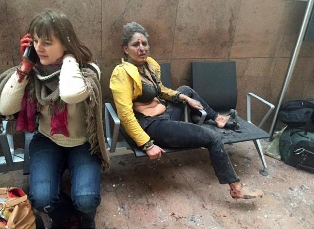 Các nạn nhân bị thương tại sân bay Zaventem