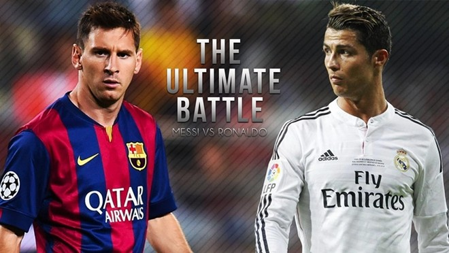 Messi và Ronaldo có cùng số bàn thắng trong 24 lần đối đầu gần đây