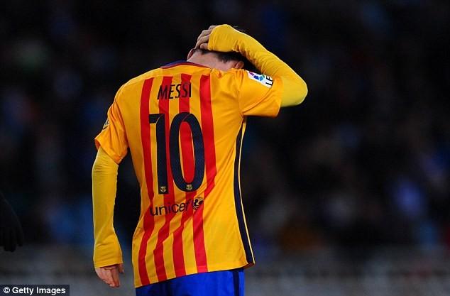 Messi không ghi được bàn thắng nào ở 5 trận gần đây