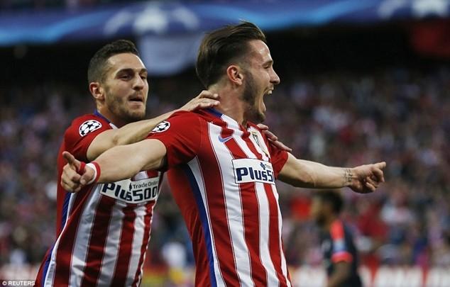 Saul ghi bàn thắng duy nhất trận đấu trên sân Calderon