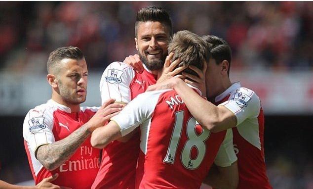 Arsenal cán đích ở vị trí á quân