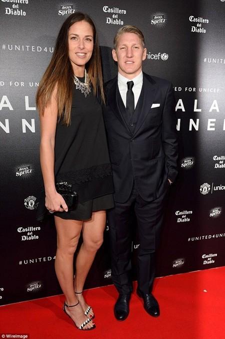 Cựu tay vợt số 1 thế giới, Ana Ivanovic và tuyển thủ Đức, Bastian Schweinsteiger