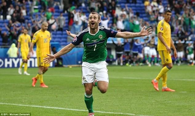 """McGinn ghi bàn """"khóa sổ"""" giúp Bắc Ailen có chiến thắng đầu tiên tại một kỳ EURO"""