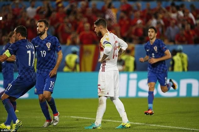 Ramos thất thần sau khi đá hỏng penalty
