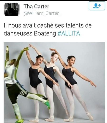 Boateng có thể so sánh với các vũ nữ múa Ballet