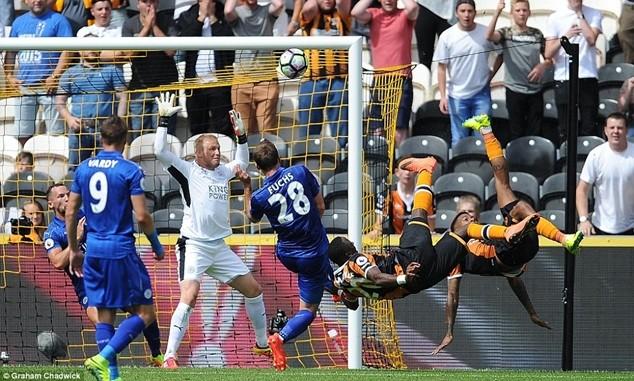 Tình huống Diomande ghi bàn mở tỷ số cho Hull City