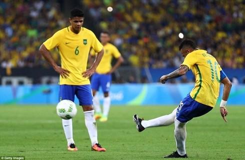 Neymar ghi bàn thắng mở tỷ số cho U23 Brazil
