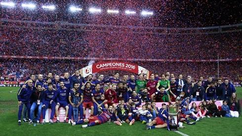 Barcelona đoạt cú đúp vô địch tại La Liga và cúp nhà vua Tây Ban Nha ở mùa trước