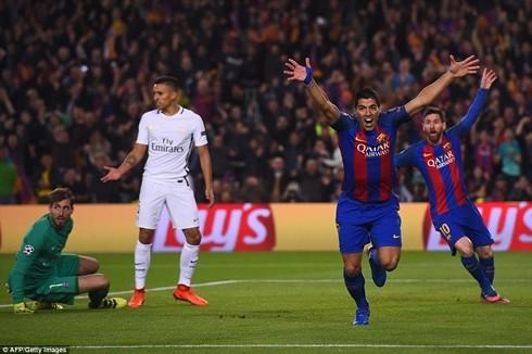 Suarez ghi bàn thắng mở tỷ số, đặt nền móng cho màn ngược dòng vĩ đại của Barcelona