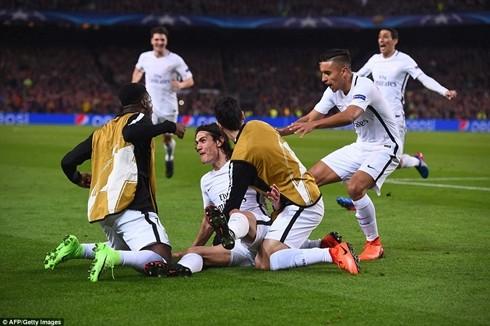 Khoảnh khắc ăn mừng hiếm hoi của PSG