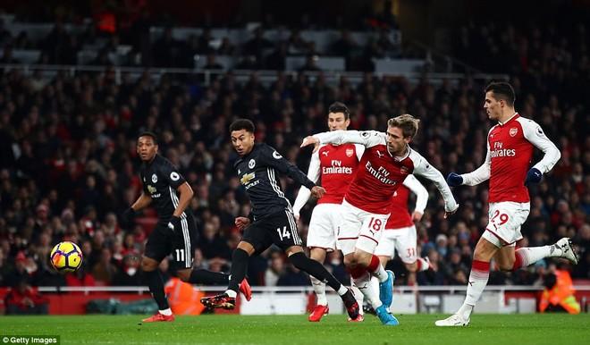 MU (áo đen) làm khách trên sân của Arsenal trong trận đấu có ý nghĩa quyết định tấm vé dự Champions League mùa tới