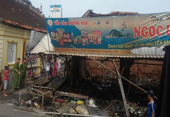 Cháy chợ Đồng Sơn thiệt hại lên đến trên 700 triệu đồng