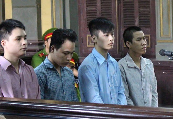 Các bị cáo tại tòa phúc thẩm