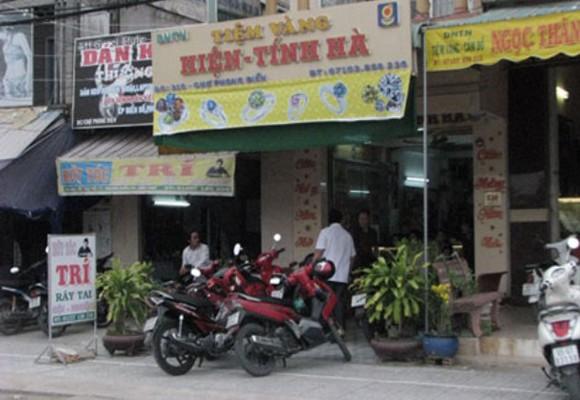 Một tiệm vàng tại TP Cần Thơ từng bị các nghi phạm đột nhập trộm tài sản