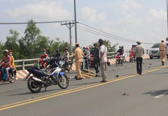 Hiện trường vụ tai nạn giao thông khiến 1 người chết