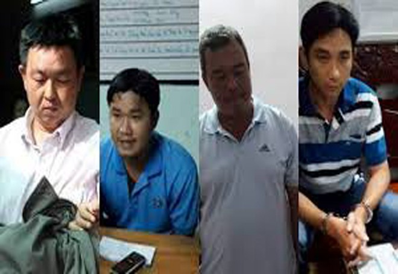 Các bị can bị bắt giữ trước đó gồm Hoàng Minh, Hoàng Anh, Vũ Duy và Nguyễn Văn Cần