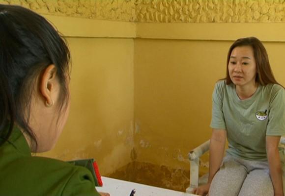 Đối tượng Nguyễn Thị Ánh Hồng tại cơ quan điều tra