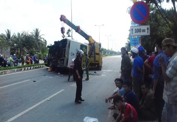 Hiện trường nơi xảy ra vụ tai nạn giao thông