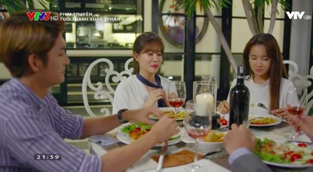 Trong bữa tối, Cynthia cố tình nói những lời khiến Linh đau lòng