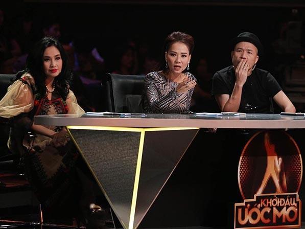 Bộ 3 giám khảo Diva Thanh Lam, ca sĩ Thu Minh và nhạc sĩ Huy Tuấn