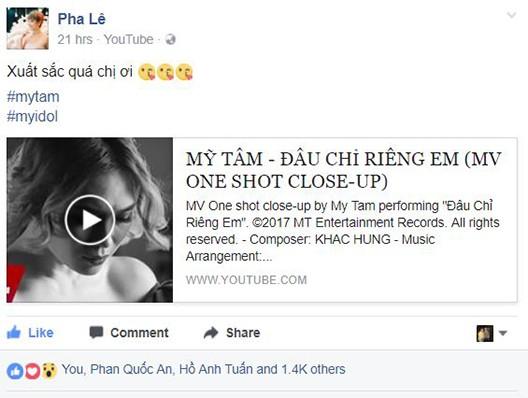 Dàn sao Việt xót xa nhìn Mỹ Tâm khóc như mưa trong MV mới