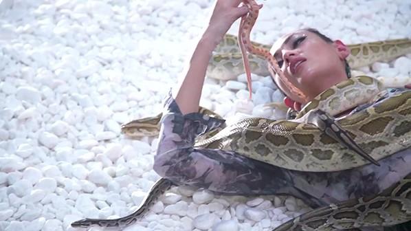 """Võ Hoàng Yến thản nhiên """"chơi đùa"""" cùng các chú trăn, rắn"""