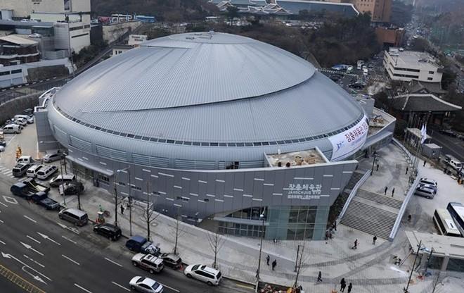 Nhà thi đấu Jangchung (Hàn Quốc) - nơi diễn ra rất nhiều các chương trình của các ngôi sao hàng đầu Hàn Quốc