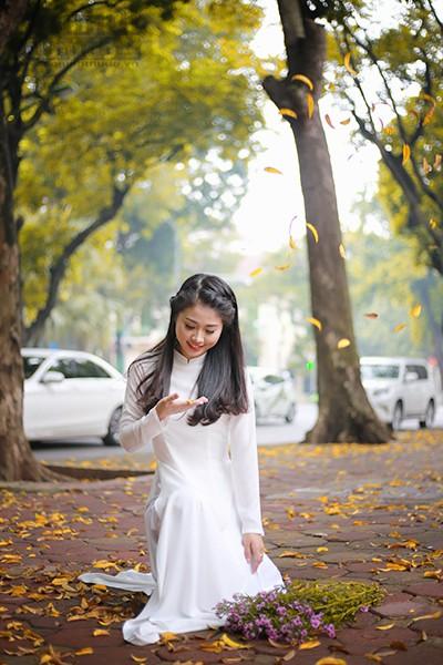 Nữ sinh Đại học PCCC đẹp dịu dàng trong tà áo dài truyền thống ảnh 10
