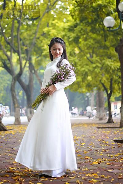 Nữ sinh Đại học PCCC đẹp dịu dàng trong tà áo dài truyền thống ảnh 12