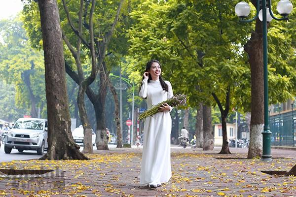 Nữ sinh Đại học PCCC đẹp dịu dàng trong tà áo dài truyền thống ảnh 9