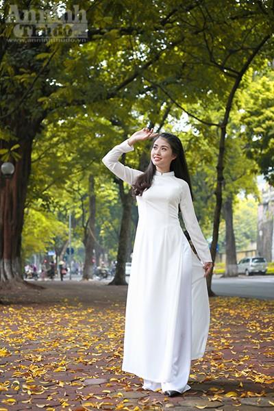 Nữ sinh Đại học PCCC đẹp dịu dàng trong tà áo dài truyền thống ảnh 4