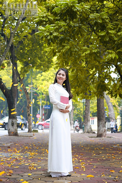 Nữ sinh Đại học PCCC đẹp dịu dàng trong tà áo dài truyền thống ảnh 6