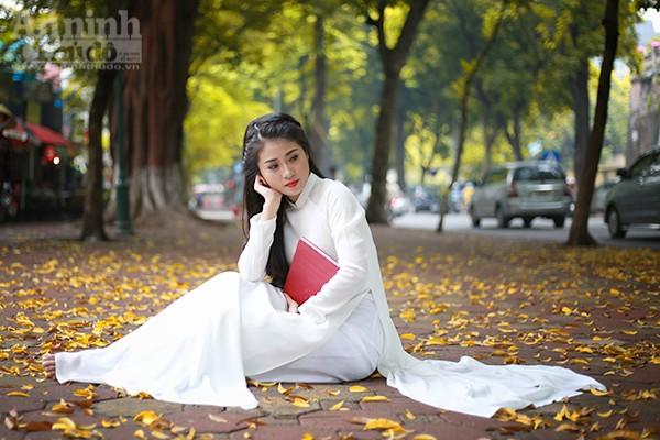 Nữ sinh Đại học PCCC đẹp dịu dàng trong tà áo dài truyền thống ảnh 7