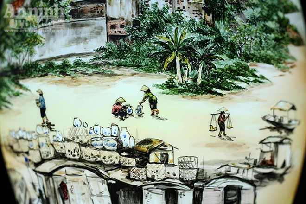 Làng quê Việt Nam qua những tác phẩm gốm Bát Tràng độc đáo ảnh 5