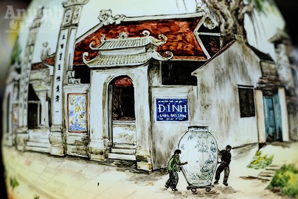 Làng quê Việt Nam qua những tác phẩm gốm Bát Tràng độc đáo ảnh 7