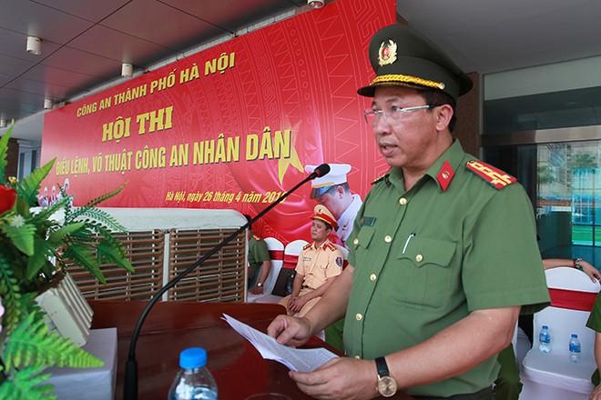 Đại tá Nguyễn Công Bẩy, Phó Cục trưởng Cục công tác Đảng và Công tác chính trị, Bộ Công an phát biểu