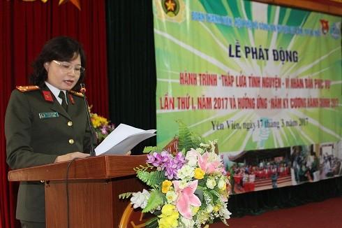 Đồng chí Vũ Thị Kim Yến biểu dương những nỗ lực của Đoàn thanh niên, Hội phụ nữ CAH Gia Lâm