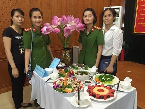 Đội thi Hội phụ nữ Phòng PC 81 giành giải nhất