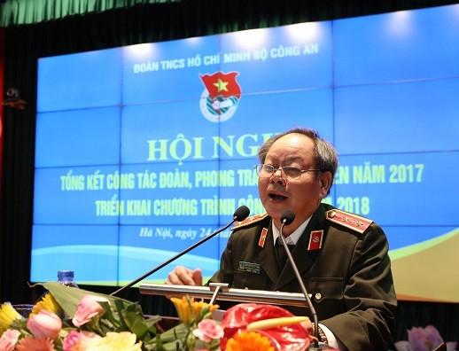 Trung tướng Nguyễn Thanh Nam phát biểu tại hội nghị