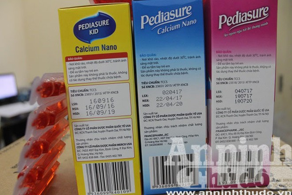 Các sản phẩm này trên bao bì hộp có ghi tiêu chuẩn và số xác nhận công bố