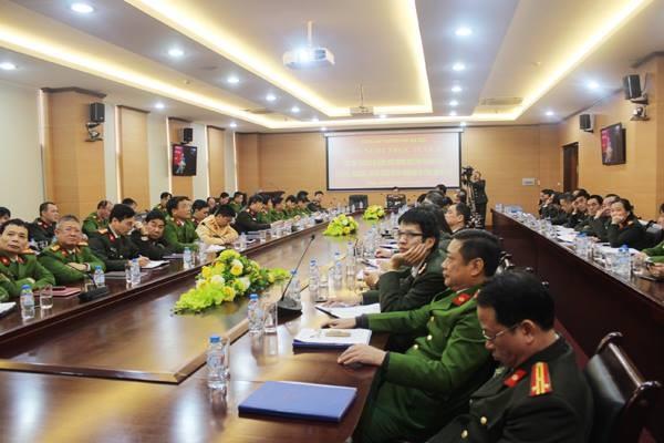 Điểm cầu trực tuyến hội nghị tại CATP Hà Nội