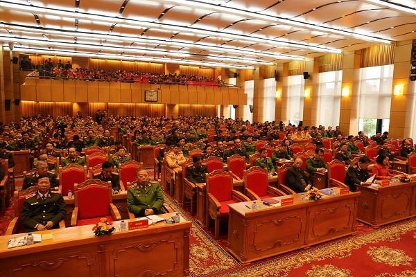 Hội nghị trực tuyến tại hội trường Bộ Công an