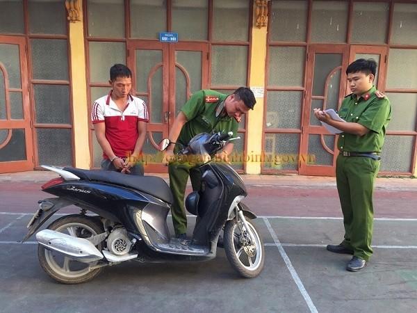 Đối tượng Nguyễn Hữu Cường bị bắt giữ (Ảnh Công an Ninh Bình)